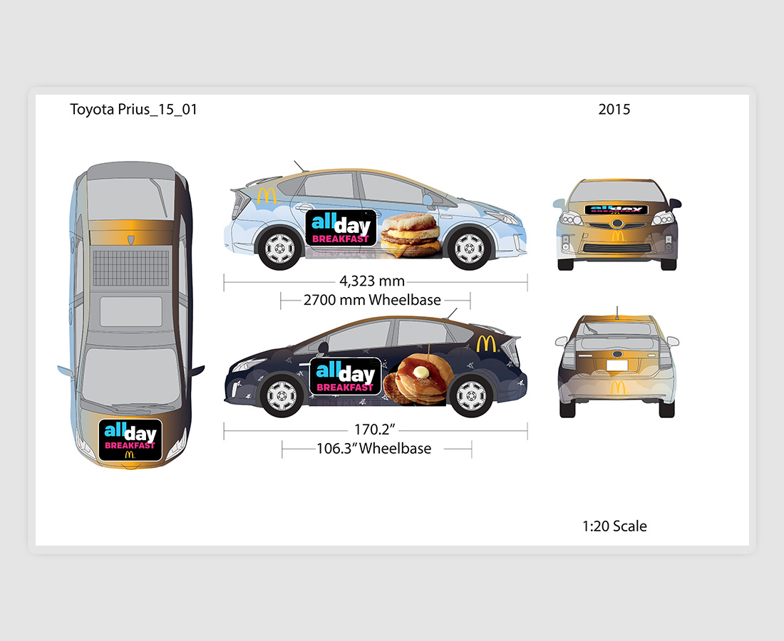 McDonald's All Day Breakfast Car Wrap 2015 (Concept)