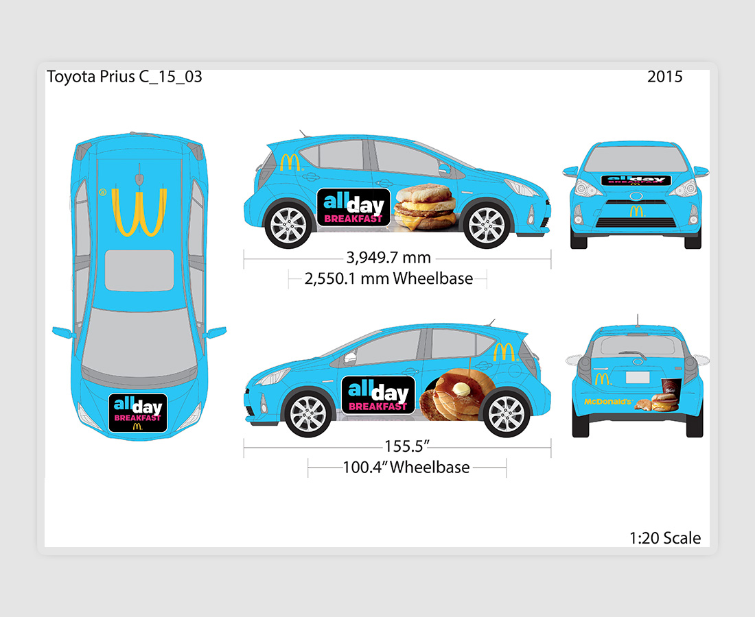 McDonald's All Day Breakfast Car Wrap 2015